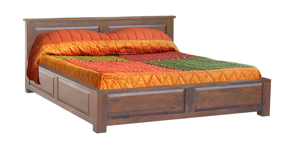 Indian wooden storage bed wooden double bed wooden for Bed design images in india