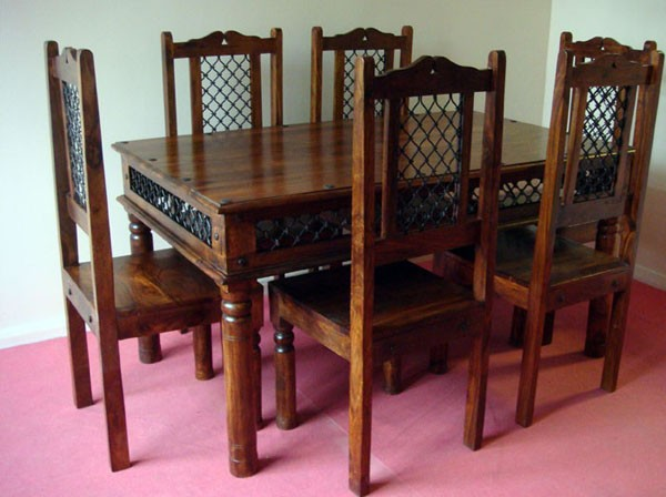 Wooden dining sets indian dining sets india wooden dining set sale online india - India dining table ...