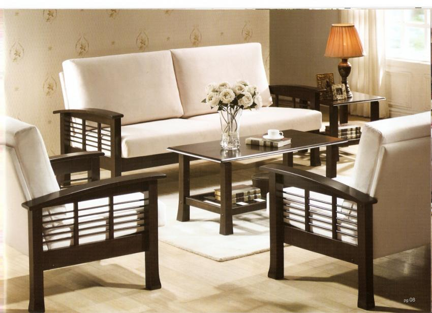 Wooden sofa sets india sheesham wood sofa sets indian for Sofa set designs for small living room