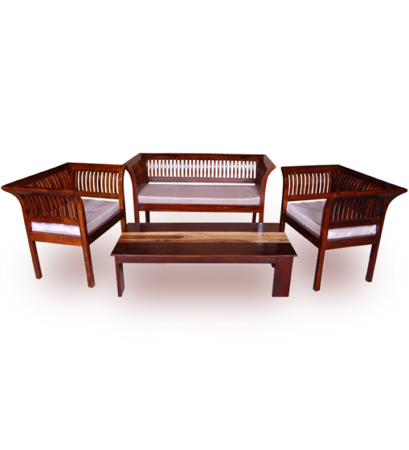 Unique Living Room Furniture Sets: Sheesham Wood Sofa Sets