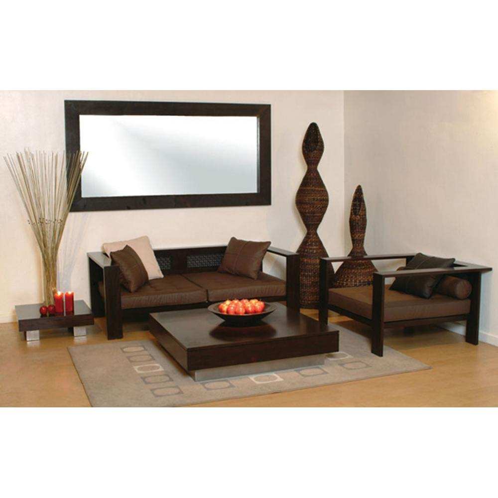 Wooden sofa sets india sheesham wood sofa sets indian - Wood living room furniture ...