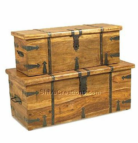 Indian Wooden Storage Trunks Wooden Trunks For Sale