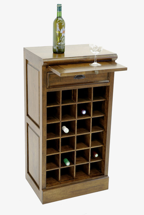 Wooden wine cabinet wooden bar unit wooden wine racks - Table mange debout avec rangement ...